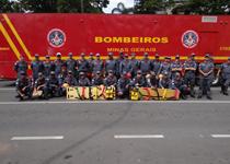 Bombeiros montam base de apoio na Praça da Liberdade