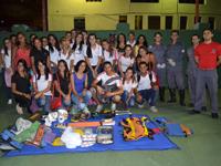 Escola de Enfermagem Nossa Senhora do Pilar visita o 1° Batalhão de Bombeiros Militar