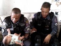 Moto Resgate do 3° BBM salvam recém-nascido vítima de engasgamento