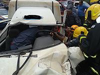 Engavetamento deixa passageiros presos às ferragens
