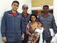 Bombeiros do 6º Batalhão de Bombeiros Militar salvam recém-nascida vítima de engasgamento