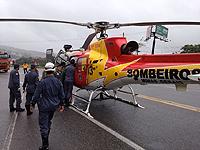 Criança e idoso são socorridos pelo helicóptero Arcanjo