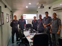 oficiais do CBMMG no posto de comando