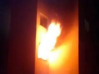 Incêndio em apartamento no bairro Jardim das Nações em Itajubá