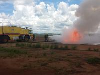 Militares do 3° Batalhão realizam simulado de combate a incêndio no Aeroporto de Confins