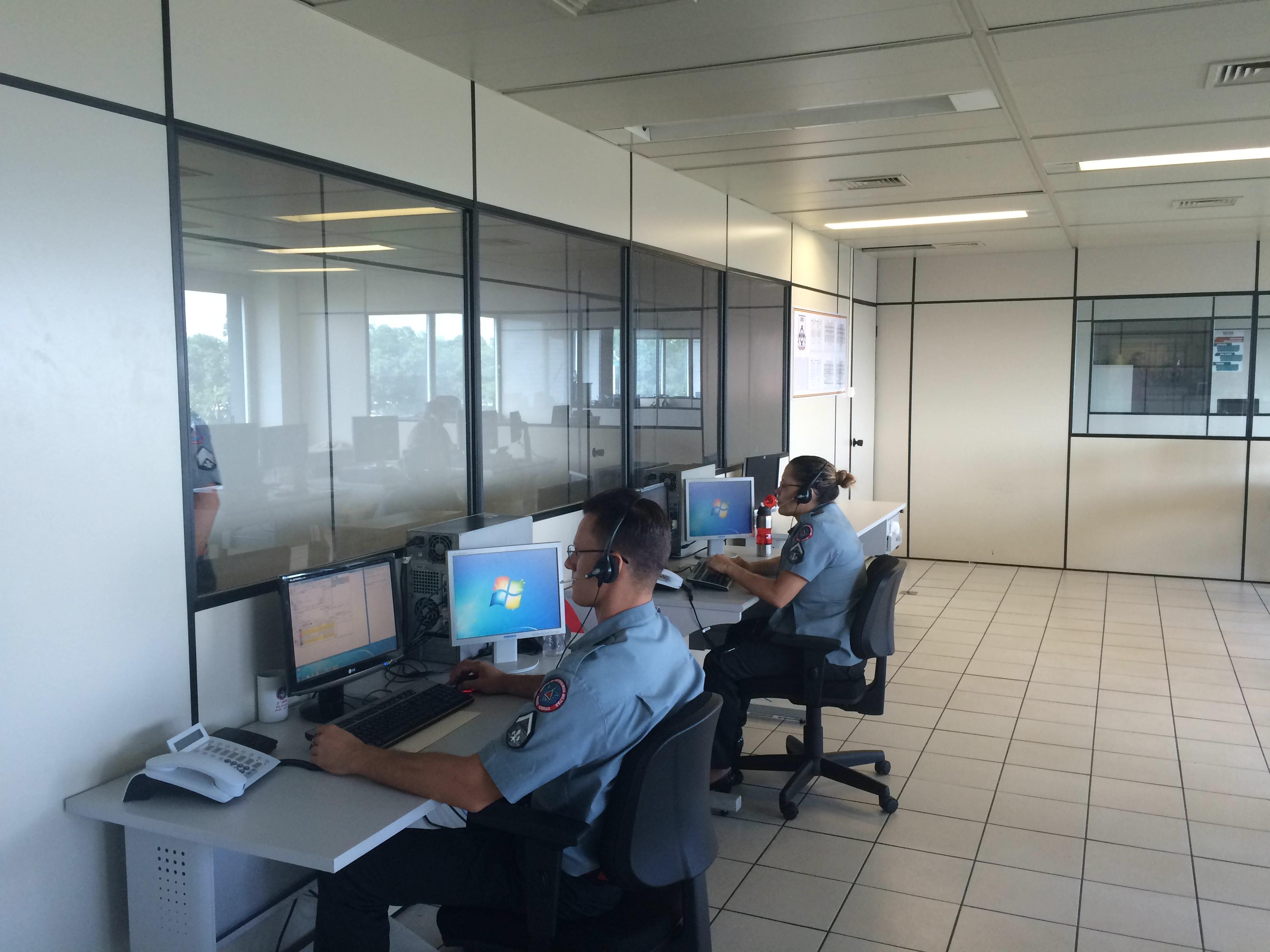 Sala de Operações do 5° Batalhão de Bombeiros Militar