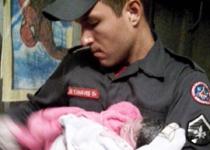 Bombeiros de varginha auxiliaram em parto