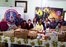 Militares de São Lourenço visitam o Asilo Casa São Vicente de Paulo para entregar os alimentos arrecadados na Corrida organizada pelo Pelotão