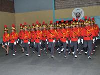 Turma Paladinos em desfile militar na solenidade de entrega do Espadim