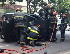 Belo Horizonte – Bombeiros no centro de BH realizam simulado de acidente de trânsito